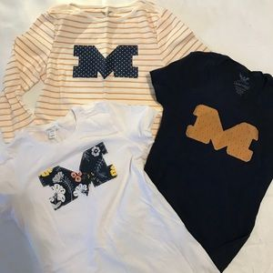 """Tops - Bundle of """"M"""" Fitted T-Shirts - Blue & Gold Sz XS"""